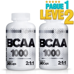 BCAA 1000 - 500mg (240 Cápsulas) - Physical Pharma (Pague 1 Leve 2) - Val 06/21