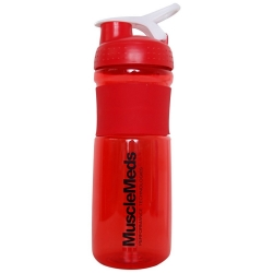 Coqueteleira Bottle Sport Mixer - Muscle Meds - Vermelha - 760ml
