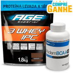 Ultra IPC 3 Whey Refil (1,8kg)  - AGE Chocolate + BCAA USP Labs - 200 Caps(Val. 30/11/17)