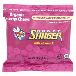 Organic Energy Chews - Honey Stinger - 10 balas de goma - pack de 50g