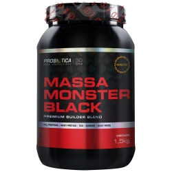 Massa Monster Black (1,5Kg) - Probiótica