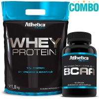 Combo Whey Protein Pro Series (1,8 Kg) + BCAA (120 Cápsulas) - Atlhetica Nutrition