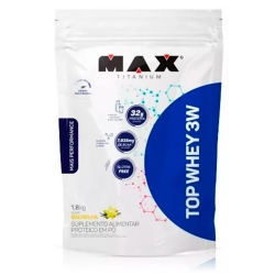 Top Whey 3W Mais Performance (1,8kg) - Max Titanium